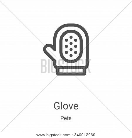 glove icon isolated on white background from pets collection. glove icon trendy and modern glove sym