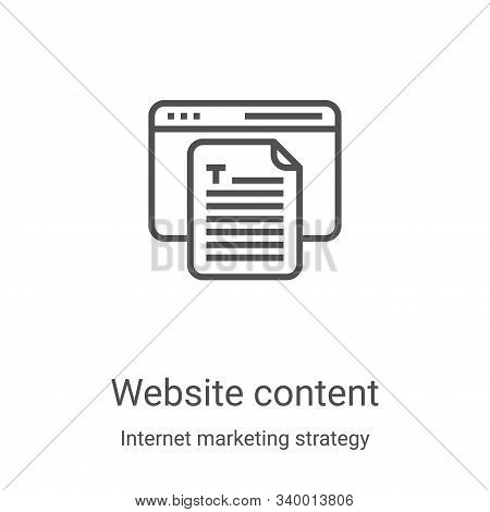 website content icon isolated on white background from internet marketing strategy collection. websi