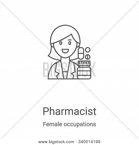 Pharmacist icon isolated on white background from female occupations collection. Pharmacist icon tre