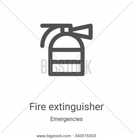 fire extinguisher icon isolated on white background from emergencies collection. fire extinguisher i
