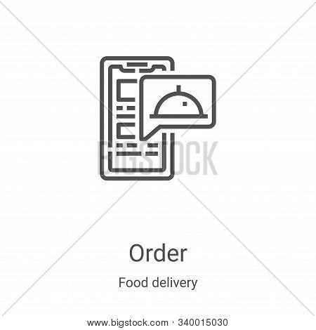 order icon isolated on white background from food delivery collection. order icon trendy and modern