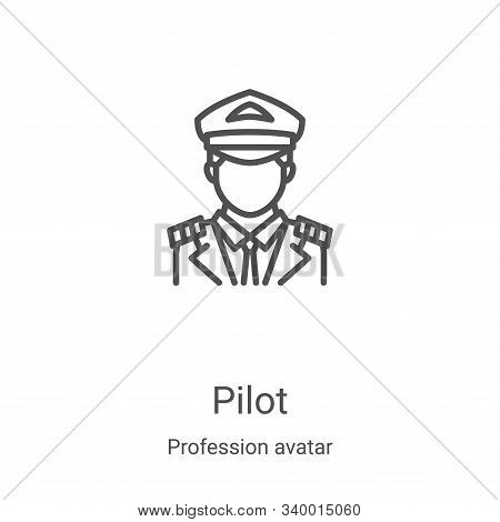 pilot icon isolated on white background from profession avatar collection. pilot icon trendy and mod