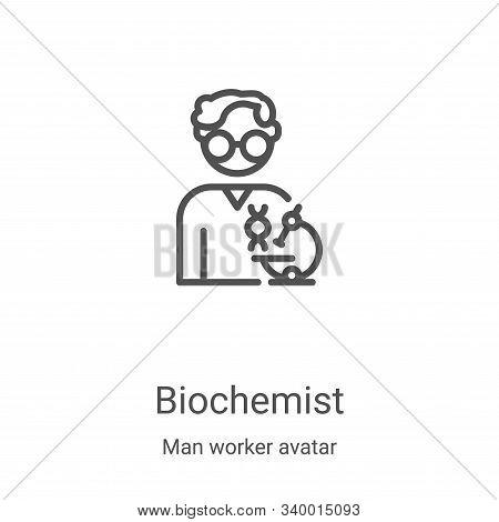 biochemist icon isolated on white background from man worker avatar collection. biochemist icon tren