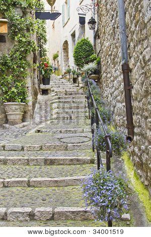 Street In The Medieval City Of Saint Paul De Vence