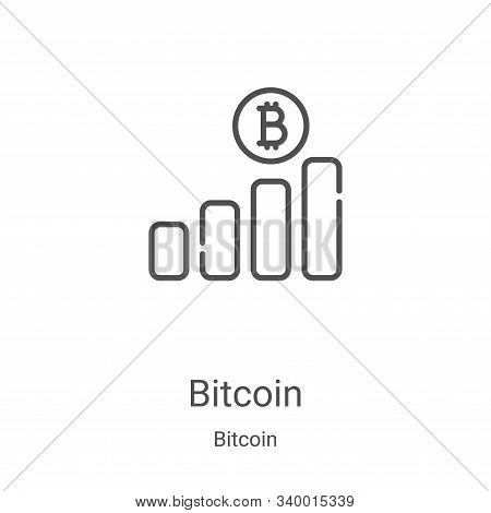 bitcoin icon isolated on white background from bitcoin collection. bitcoin icon trendy and modern bi