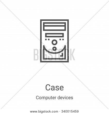case icon isolated on white background from computer devices collection. case icon trendy and modern