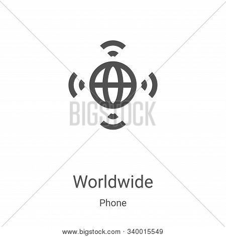 worldwide icon isolated on white background from phone collection. worldwide icon trendy and modern