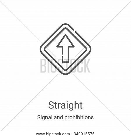 straight icon isolated on white background from signal and prohibitions collection. straight icon tr