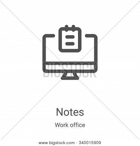 notes icon isolated on white background from work office collection. notes icon trendy and modern no