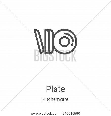 plate icon isolated on white background from kitchenware collection. plate icon trendy and modern pl