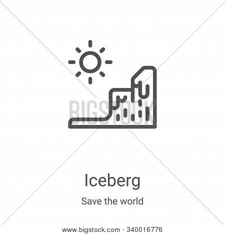 iceberg icon isolated on white background from save the world collection. iceberg icon trendy and mo
