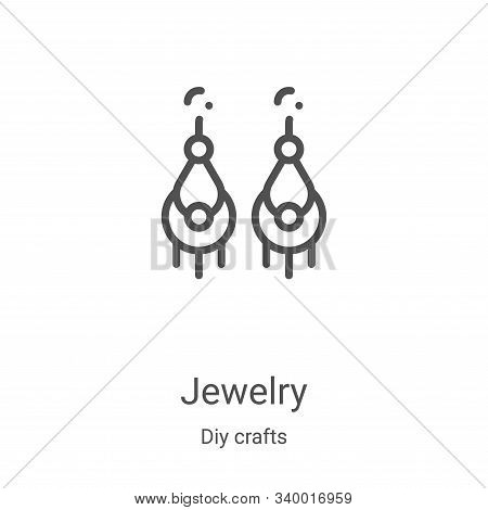 jewelry icon isolated on white background from diy crafts collection. jewelry icon trendy and modern