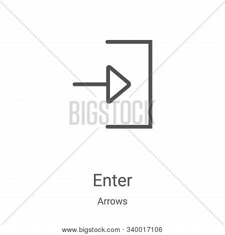 enter icon isolated on white background from arrows collection. enter icon trendy and modern enter s