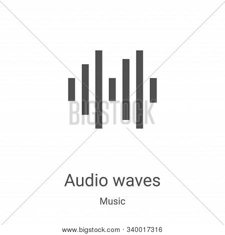 audio waves icon isolated on white background from music collection. audio waves icon trendy and mod