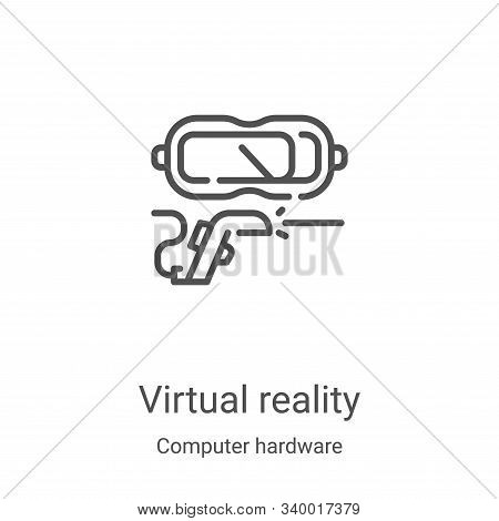 virtual reality icon isolated on white background from computer hardware collection. virtual reality