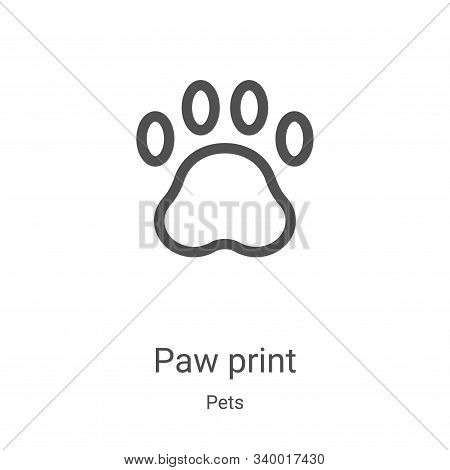 paw print icon isolated on white background from pets collection. paw print icon trendy and modern p