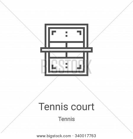 tennis court icon isolated on white background from tennis collection. tennis court icon trendy and