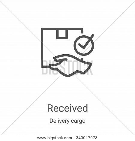 received icon isolated on white background from delivery cargo collection. received icon trendy and