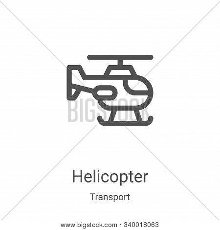 helicopter icon isolated on white background from transport collection. helicopter icon trendy and m