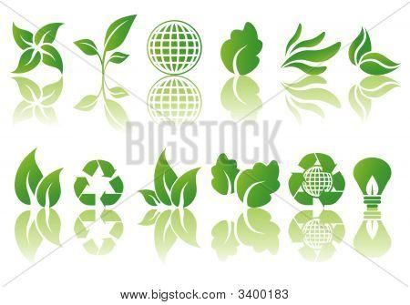 Vector Set Of Ecological Symbols