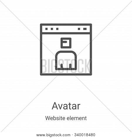 avatar icon isolated on white background from website element collection. avatar icon trendy and mod