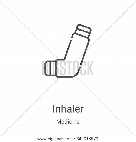 inhaler icon isolated on white background from medicine collection. inhaler icon trendy and modern i