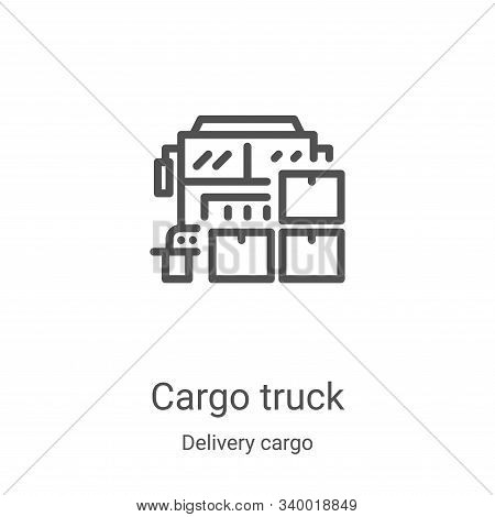cargo truck icon isolated on white background from delivery cargo collection. cargo truck icon trend