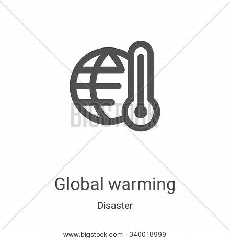 global warming icon isolated on white background from disaster collection. global warming icon trend