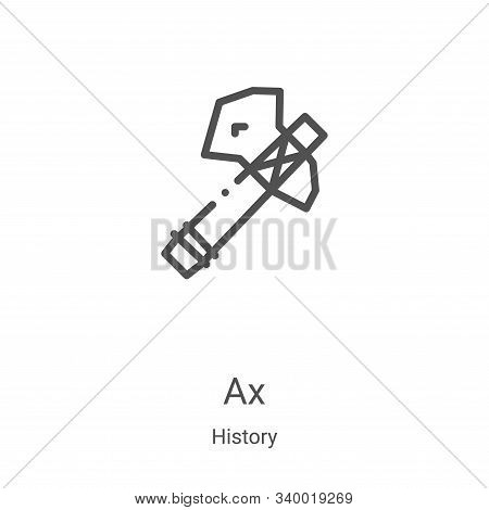 Ax icon isolated on white background from history collection. Ax icon trendy and modern Ax symbol fo