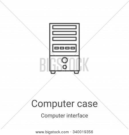 computer case icon isolated on white background from computer interface collection. computer case ic