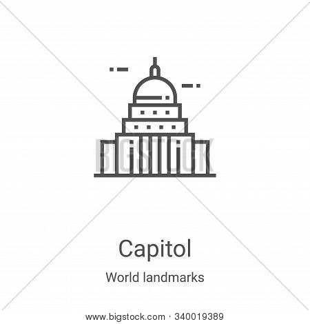 capitol icon isolated on white background from world landmarks collection. capitol icon trendy and m