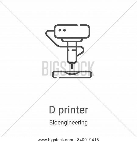 d printer icon isolated on white background from bioengineering collection. d printer icon trendy an