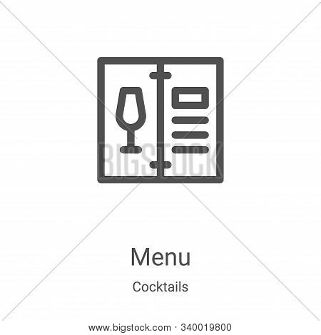 menu icon isolated on white background from cocktails collection. menu icon trendy and modern menu s
