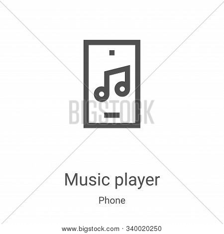 music player icon isolated on white background from phone collection. music player icon trendy and m