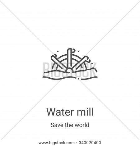 water mill icon isolated on white background from save the world collection. water mill icon trendy
