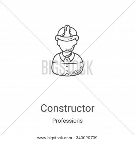constructor icon isolated on white background from professions collection. constructor icon trendy a