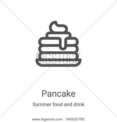 pancake icon isolated on white background from summer food and drink collection. pancake icon trendy