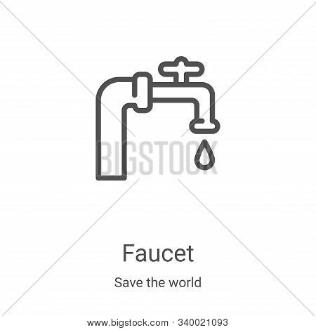 faucet icon isolated on white background from save the world collection. faucet icon trendy and mode