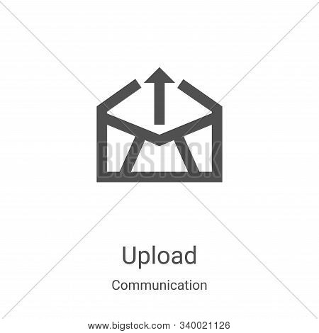 upload icon isolated on white background from communication collection. upload icon trendy and moder
