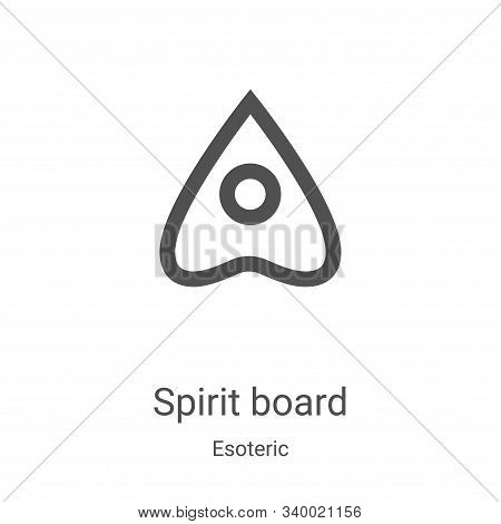 spirit board icon isolated on white background from esoteric collection. spirit board icon trendy an