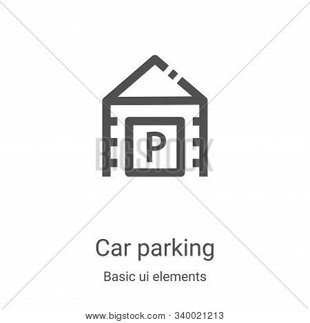 car parking icon isolated on white background from basic ui elements collection. car parking icon tr