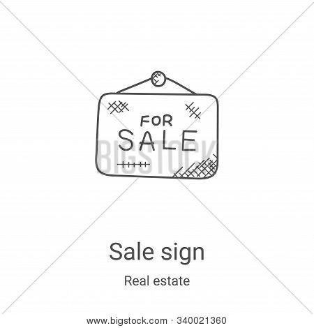 sale sign icon isolated on white background from real estate collection. sale sign icon trendy and m