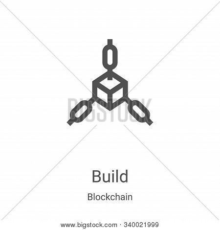 build icon isolated on white background from blockchain collection. build icon trendy and modern bui