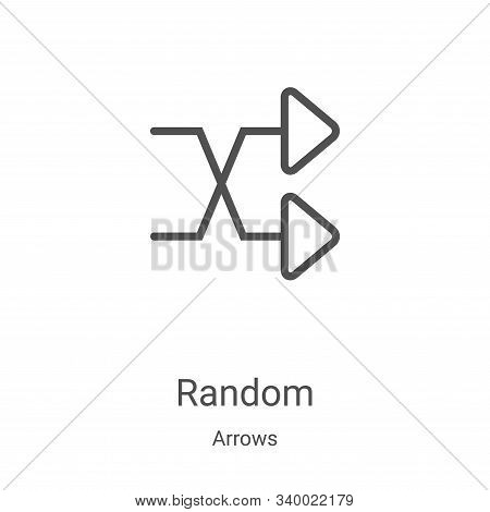 random icon isolated on white background from arrows collection. random icon trendy and modern rando