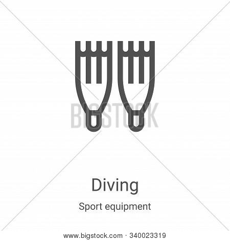 diving icon isolated on white background from sport equipment collection. diving icon trendy and mod