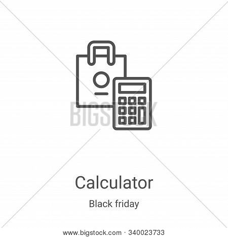 calculator icon isolated on white background from black friday collection. calculator icon trendy an