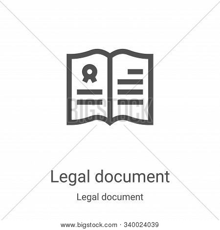 legal document icon isolated on white background from legal document collection. legal document icon