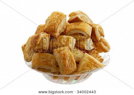 Bourekas Pile In Glass Bowl