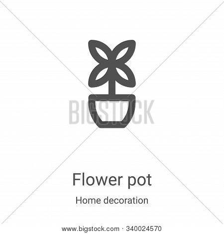 flower pot icon isolated on white background from home decoration collection. flower pot icon trendy