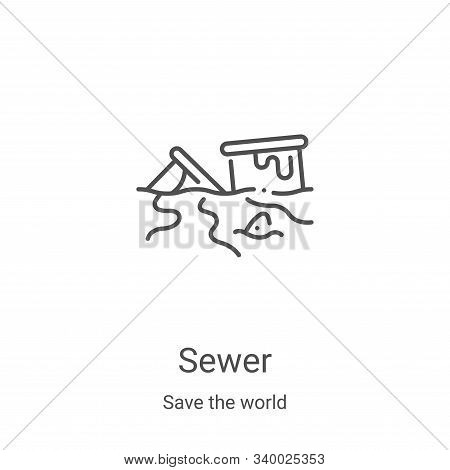sewer icon isolated on white background from save the world collection. sewer icon trendy and modern